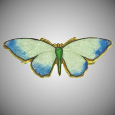 Early small enamel figural butterfly Scatter Pin