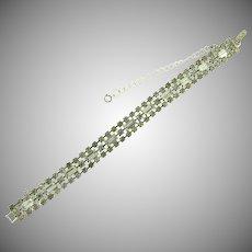 Vintage 3 row all crystal rhinestone Bracelet