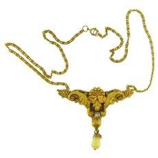 Vintage Victorian Revival style pendant Necklace