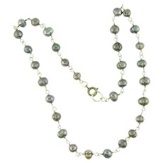 Vintage freshwater grey pearls choker Necklace