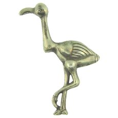 Signed Sterling by Coro vintage flamingo Brooch