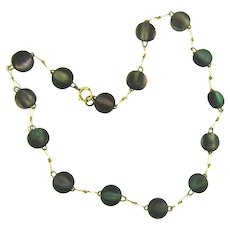 Vintage abalone bead choker Necklace