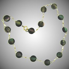 Vintage abalone bead choker Necklace