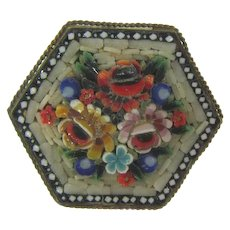 Made in Italy early mosaic Brooch