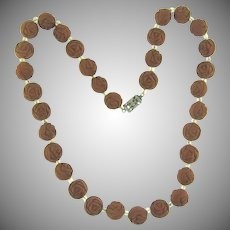 Rose petal bead choker Necklace