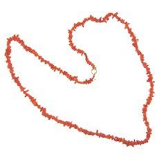 Vintage branch coral  Necklace