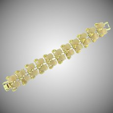 Signed Coro link Bracelet with thermoset tiles