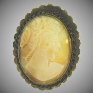 Vintage thin shell Cameo