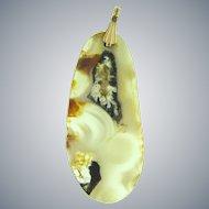 Vintage agate pendant