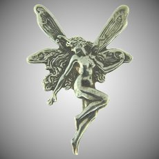 Marked Sterling silver fairy Brooch