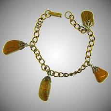 Vintage charm Bracelet with jasper stones