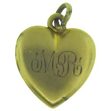 Small heart shaped gold filled Locket Pendant/Charm with initials MR