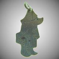 Stamped silver Paddington Bear Charm