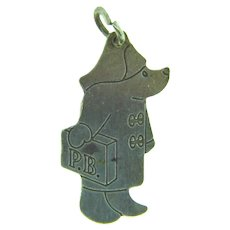 Stamped silver Paddington Bear Charm