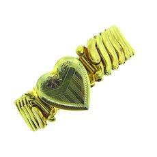 Signed Bojar gold filled sweetheart expansion Bracelet