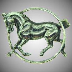 Signed Beau sterling silver figural horse vintage Scatter Pin
