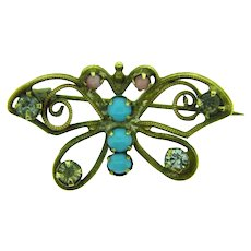 Vintage early small figural butterfly Brooch
