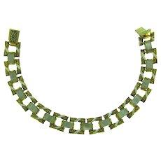 Vintage damascene link Bracelet
