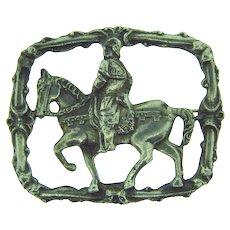 Vintage Conquistador figural silver tone Brooch