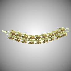 Vintage 1950's thermoset Bracelet in brown shades