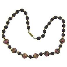 Vintage choker Necklace with Venetian wedding cake beads