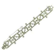 Vintage crystal rhinestone Bracelet