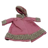 Antique Kamkins Style Doll Coat and Hat Lambswool
