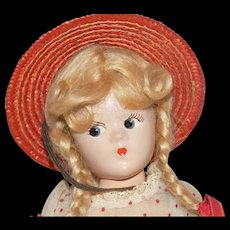"Vintage 9 1/2"" Madame Alexander Composition McGuffey Ana Doll A.O. Tagged"
