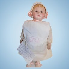 "21"" Antique Cloth Martha Chase Doll w/Stamp"