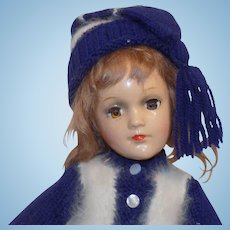 """Vintage 14"""" Composition Mary Hoyer Doll All Original"""