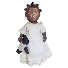 Artist Barbara Buysse Bysse Cloth Black Doll Johnna Art Doll