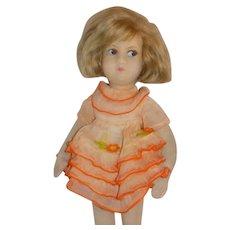 Old Cloth Italian Felt Doll All Original Lenci Era