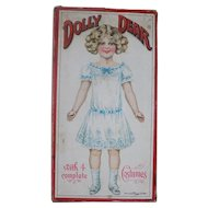 Antique Victorian German Paper Dolls Box Box Only