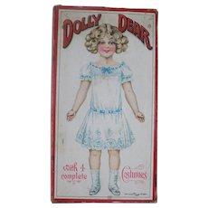 Antique Victorian German Paper Dolls Box Box Only