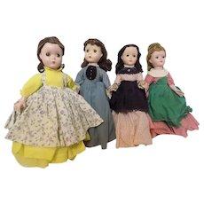 "Vintage Madame Alexander 14"" Maqgie Margaret Little Women Doll Dolls Set"