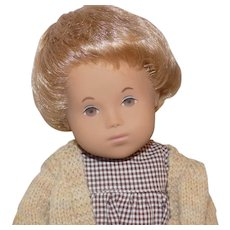 Vintage Sasha Doll 501 Baby Sandy Honey Blond Hair Basket Box Made In England
