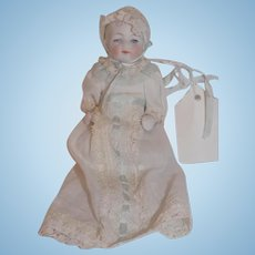 Antique German All Bisque Character Doll House BabyDoll