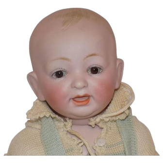 """11"""" Large Kestner All Bisque Character Baby Doll"""