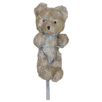 SWEET Vintage Jointed Mohair Bear Glass Eyes