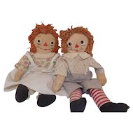 Georgene Averill Raggedy Ann and Andy Dolls Tagged