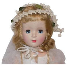 "Beautiful 14 "" Madame Alexander Margaret Bride Doll Tagged Hat Box Curlers NMint"