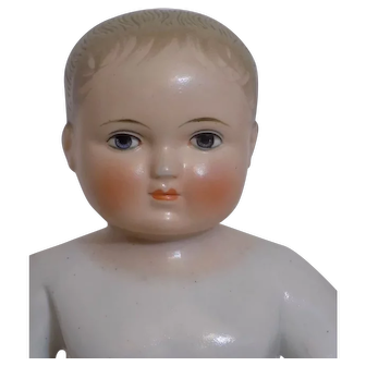 "Antique 12 1/2"" German Frozen Charlotte Charlie Doll"