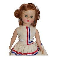 Vintage Madame Alexander Cissette Doll Dress Tagged Red White Blue