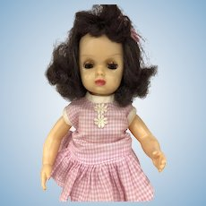 Vintage Tiny Terri Lee doll Tagged Pink Check