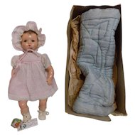CUTE 1940 Vintage NMIB Ideal Composition Baby Doll Poppa Momma Doll A.O.