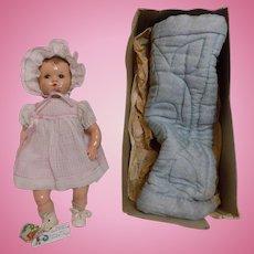 CUTE 1940 Vintage NMIB Ideal Composition Baby Doll Poppa Momma Doll A.O.