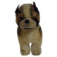 Vintage Mohair Stuffed Bulldog or Boxer Doll Size