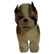 Vintage Mohair Stuffed Bulldog or Boxer Doll Size