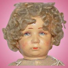 Antique German Cloth Bing Doll to Dress
