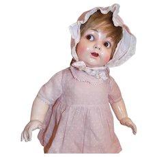 Antique German Flirty Eyed KOENIG & WERNICKE Toddler baby  Doll Original Clothes